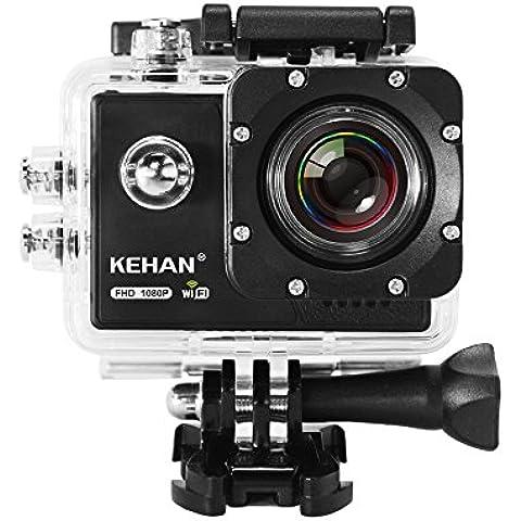 KEHAN C70 HD 1080P 60fps Mini Wifi Cámara de Acción H.264 16MP Cámara Deportiva y Acuática DV videocámara de patalla de 2.0