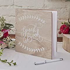 Idea Regalo - Boho - Wooden Guest Book