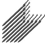 BB SPORT 10er Set Trekking Erdnägel Zeltheringe aus Aluminium Y-Profil Länge 23 cm leicht - nur 20 g je Stück; für gemischte, Harte und steinige Böden, Farbe:schwarz
