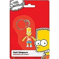 NJ Croce Bart Simpson Bendable Keychain Backpack Hanger, Multi Color