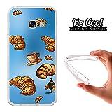 Becool® - Flexible Gel Schutzhülle für Samsung Galaxy A3 2017, TPU Hülle aus bestem Silikon gefertigt, die dank unserem exklusivem Design sich einwandfrei an Ihr Smartphone anpasst und optimalen Schutz gewährleistet. Croissant und Kaffee.