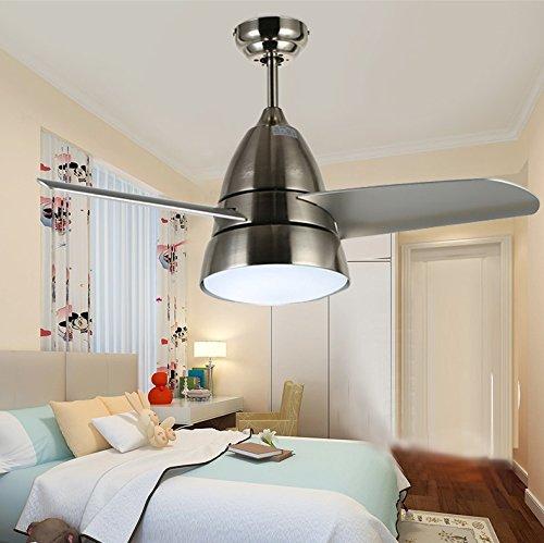 Xuanytp Lámpara de techo moderna del dormitorio/luz del ventilador de techo/comedor moderna Lámpara de techo del dormitorio casero invisible, plata 900Cm 710Cm