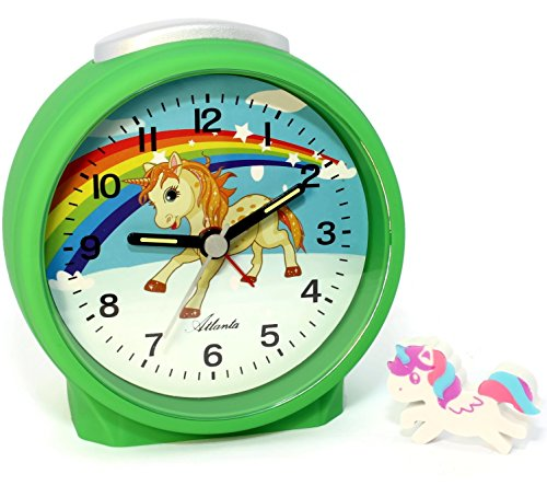 Niños despertador + goma borrar Unicornio Aprendizaje