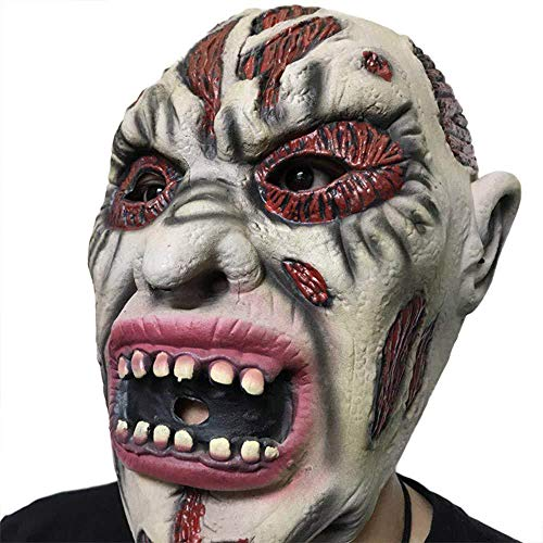 FLY FLQ Halloween Maske, Requisiten Horror Gesicht Rotten Devil Mask Scary Masquerade Dress Up Latex Masken
