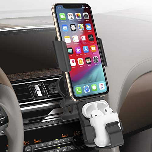 Caricatore Wireless Auto, Qi Caricabatteria Supporto Auto Caricatore per Auto Wireless per Samung Galaxy S10/9/8/Note 9,iPhone11/XS/XS Max/XR/X/8,Huawei Mate 20 Pro/P30 PRO, Xiaomi Mix 2S Airpod 2