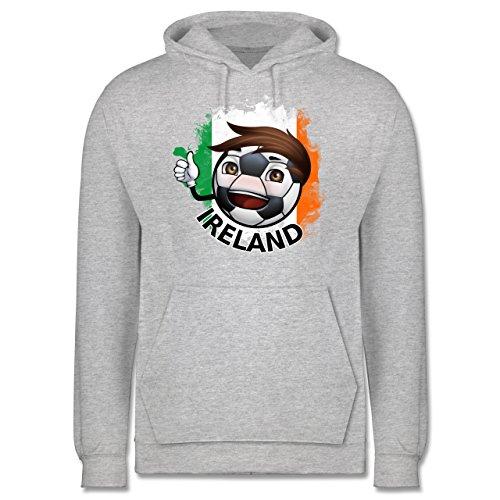 EM 2016 - Frankreich - Fußballjunge Irland - Männer Premium Kapuzenpullover / Hoodie Grau Meliert