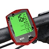 Wireless Bike Computer, Furado Cycle Computer for Tracking Riding Speed and Distance, Waterproof, Automatic Wake-up, Bicycle Computer with Large LCD Backlight and Motion Sensor, Bike Computer Odometer Speedometers