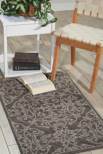 Nourison Teppich Mondrian 99446341303-Grau power-loomed Teppich, grau, 2ft 3Zoll x 3ft 9Zoll - Nourison Nourison Teppich Grau