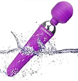"Magic Wand Massager mit 10 Vibrationsmodi, Paloqueth Mini Wand Massagegerät Vibratoren für Sie mit 8 Intensitäten - ""Lustful Girl"" In Lila"