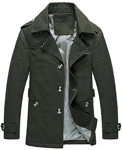 Manteau Classique Long Homme - Mochoose Trench Coton Blouson Classique Col à