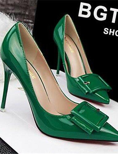 WSS 2016 Chaussures Femme-Habillé / Soirée & Evénement-Noir / Vert / Violet / Rouge / Blanc / Gris-Talon Aiguille-Talons-Talons-Similicuir purple-us4-4.5 / eu34 / uk2-2.5 / cn33