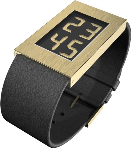 Rosendahl - 43282 - Montre Homme - Quartz - Digitale - Bracelet Cuir Noir