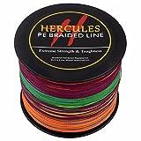2000m 2187yds Multicolor 6lbs-100lbs Hercules PE Dyneema Geflochtene Angelschnur Spectra 4Strähnen, mehrfarbig