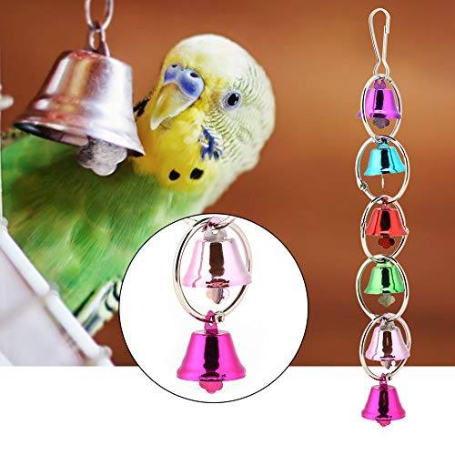Colorful Swing Rings Palline Toy, Pet Bird Hanging Bell Hammock Toy Cage Perch Giocattolo da Masticare per pappagalli, fringuelli, Ara