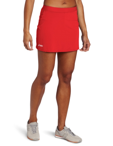 Asics Damen Striker Skort, Damen, rot, XX-Large