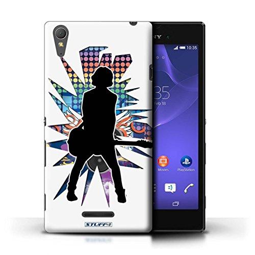 Kobalt® Imprimé Etui / Coque pour Sony Xperia T3 / Rock Dame Blanc conception / Série Rock Star Pose émotion Blanc