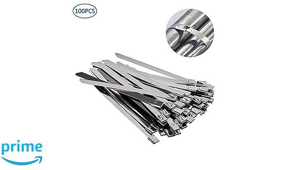 250x7.9mm Serre-c/âbles /à verrouillage auto durable pour latelier de bureau /à domicile YOFASEN Collier Serrage Inox 100 pi/èces