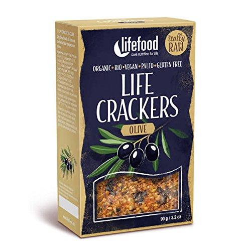Preisvergleich Produktbild LIFEFOOD Life Crackers Olive 90g (bio,  roh,  vegan) Pikantbrot