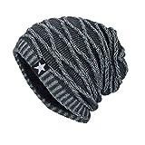 Cappelli Uomo , Yanhoo Cappello a maglia del cappello di inverno delle donne del faccia sorridente,misto lana (Formato libero, Grigio)