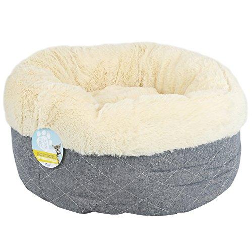 Me & My Pets - Kuscheliges Haustierbett - rund - grau gesteppt