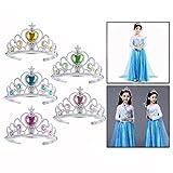 OFKPO  8 pezzi Corona per Bambini,Corona da Principessa Copricapo della Ragazza Accessori per Feste