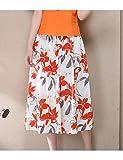 XINJING-S Inscrivez-printemps et été jupe plissée jupes coton théâtral national wind taille élastique impression swing grand Floral