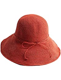 Jianxin Sombrero De Paja Hecho A Playa Outdoor Verano Mujer Mano Sombrero  Sombrero Visera Viajes Vacaciones c117627d09f8