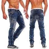 DIESEL 0816J Belther Jean pour Homme Coupe Droite Effet Vieilli - - 29 W/32 L