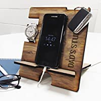 Wooden Docking Station, Personalised Wooden Phone Stand, Wooden Charging Dock