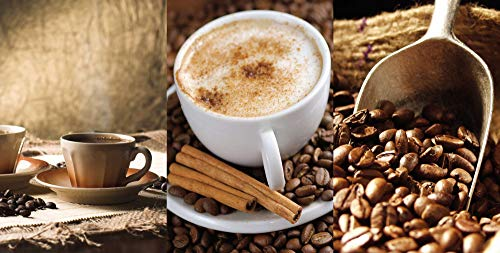 Artland Design Spritzschutz Küche I Alu Küchenrückwand Herd BxH: 100x50 cm sehr schnelle und einfache Montage Kaffee - Cappuccino - Heißer Kaffee