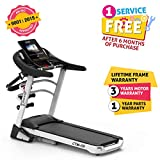 Cockatoo CTM09 3.75 HP Peak Motorised Auto-Incline and Multi Function Treadmill with Massager