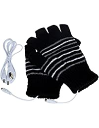 Gloves - SODIAL(R)New 5V USB Powered Heating Heated Winter Hand Warmer Gloves Washable black