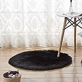 Esszimmer Teppiche Nachahmung Wollteppich Teppich für Wohnzimmer Schlafzimmer Sofakissen Matratze hochflor Shaggy Matten 90 * 90cm einfache imitierte Wolle Runde Zimmer Teppich Kinderzimmer Bereich