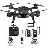 MJX Bugs 6 Racing Drone avec moteur haute vitesse sans balais à double voie 2.4GHz 4 Chanel 6 axes Gyro RC Quadcopter Drone, compatible avec le casque 3D VR(Chargeur extra et deux batteries)