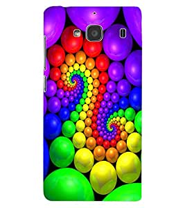 ColourCraft Lovely Colourful Design Back Case Cover for XIAOMI REDMI 2S