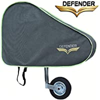 Defender Light Grey Caravan Tow Hitch Cover Universal Towing Accessories Protector Waterproof Trailer Covers with Straps