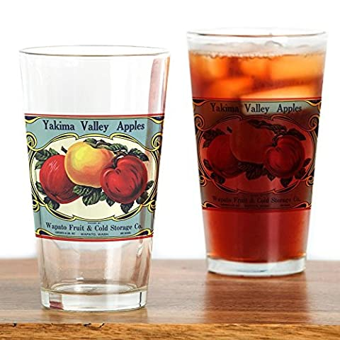 CafePress - Vintage Fruit Crate Label - Pint Glass, 16 oz. Drinking Glass