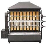 GOO Gastro GO4623G Gewerbe Holzkohlegrill mit 3 Spieße für 15 Hähnchen Grill Hähnchen Profigerät