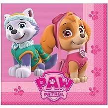 20 servilletas desechables 33x33cm para fiesta de Paw Patrol La Patrulla Canina