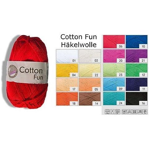 Uncinetto Filo presina Filo 100% cotone Cotton Per La Scuola Fun Colore 12verde