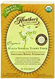 Organic Acacia Senegal Tummy Fibre, 25 Travel Packets, 2.5 g Each by Heather's Tummy Care