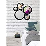Art Street -Set Of 5 Decorative Round Black Wall Mirror For Living Room (10 X 10 Inchs)