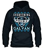 Bequemer Hoodie Damen / Herren / Unisex S Everything possible with Galvan Dunkelblau