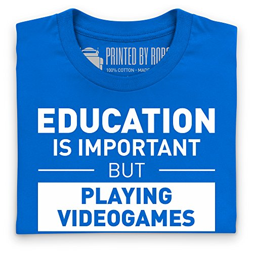 Playing Videogames T-Shirt, Damen Royalblau