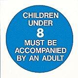 Kinder unter 8Jahren müssen von einem Erwachsenen begleitet werden Pool Gesundheit & Sicherheit Schild