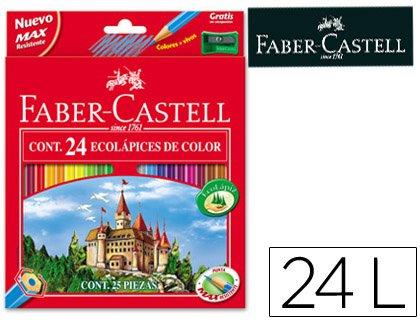 Preisvergleich Produktbild Flanellhemden Farben FABER-CASTELL C/24Farben Hexagonal Holz reforestada