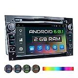 XOMAX XM-2DA703 Autoradio für Opel Corsa, Astra, Zafira mit Android 6.0.1, GPS Navigation, WiFi, Bluetooth, 7 Zoll / 18 cm Touchscreen Bildschirm, USB, Micro SD, 2 DIN