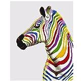 Bunte Zebra Pferde 5D Diamant-Studded DIY Handwerk Malerei Teilbohrer Stickerei Kreuzstich Kunst Handwerk Home Wall Decor