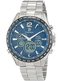 Time Piece Herren-Armbanduhr GPS Chronograph World Timer Analog - Digital Quarz Edelstahl TPGS-10575-31M