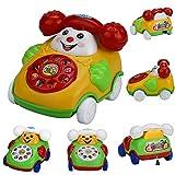 mxjeeio 12*9*8cm Lustige Cartoon Uhrwerk Wind Up Cartoon-TelefonUhrwerk Auto Lernspielzeug Für Kinder Kleinkind Kinder